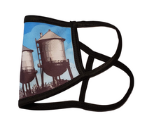 Load image into Gallery viewer, Water Towers- Chico, California: Printed Basic Ear Loop Mask