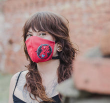 Load image into Gallery viewer, Red Cat by Damiaen Hollinga: Art Print Face Mask- Adult
