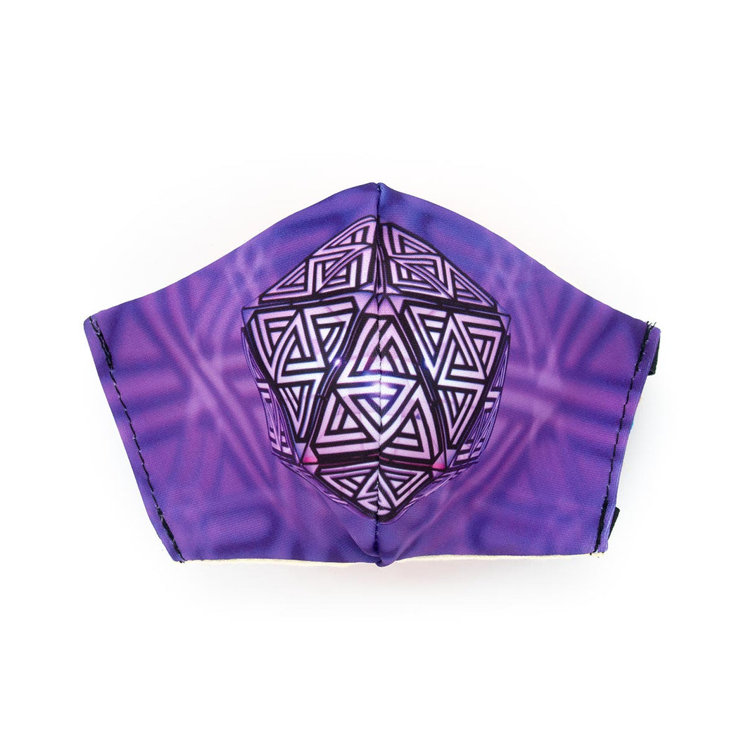 CYBER MONDAY 50% OFF -  Purple SG by Secular Geometry: Art Print Face Mask- Adult