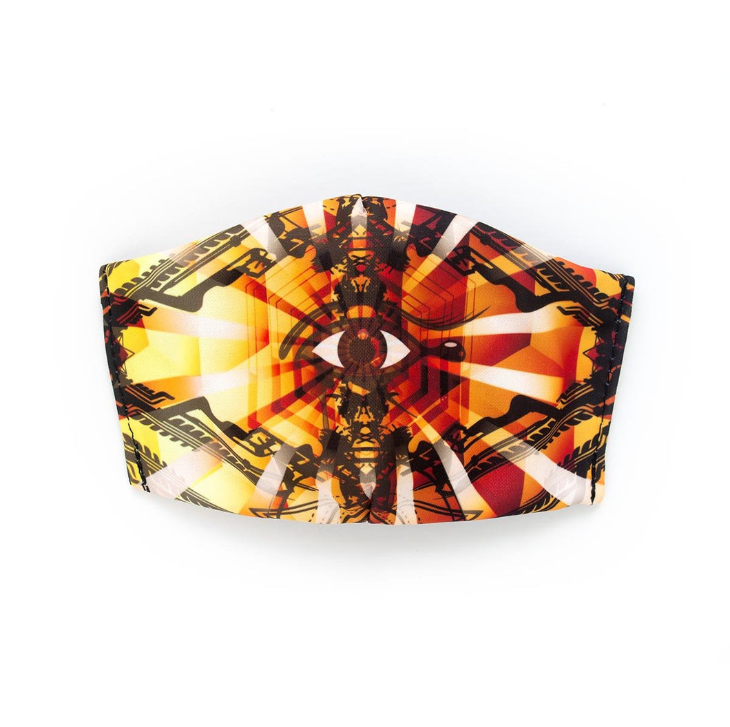 CYBER MONDAY 50% OFF - All Seeing Eye by Christopher Breedlove: Art Print Face Mask- Child