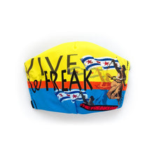 "Load image into Gallery viewer, ""Vive Le Freak"" by The Freakeasy: Art Print Face Mask- Adult"