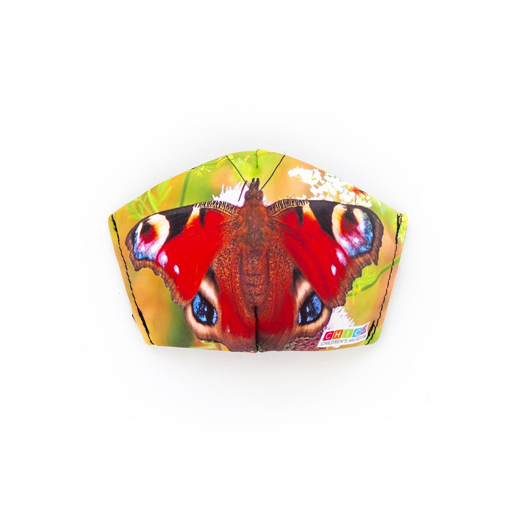 CYBER MONDAY 50% OFF - Chico Children's Museum Butterfly: Art Print Face Mask- Child