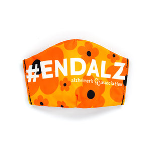 Alzheimer's Association #ENDALZ Orange: Art Print Face Mask- Child