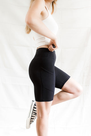 Cleo Bike Shorts - Black