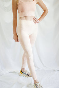 Vintage Peach Moto Leggings