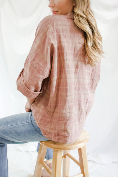 Mauve Plaid Shirt