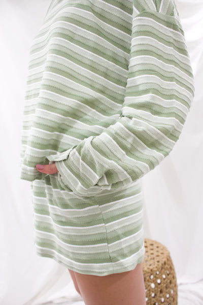 Lindsey Green Stripe Set