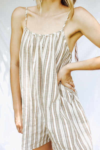 Cassie Striped Romper