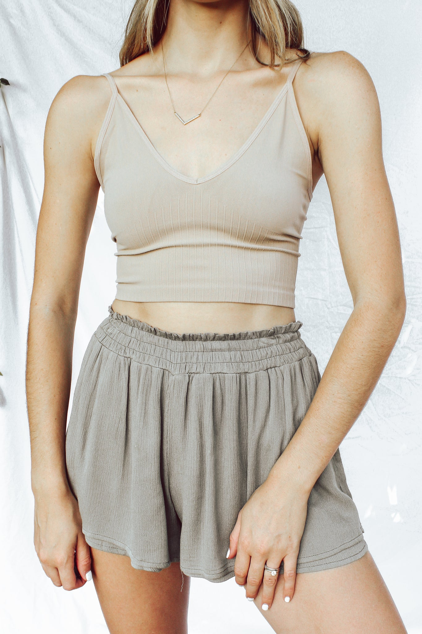 Cami Bra Top in Taupe