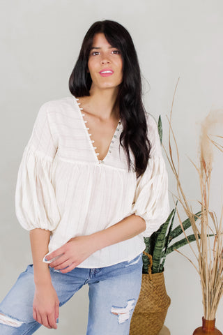 Sophie Natural Blouse