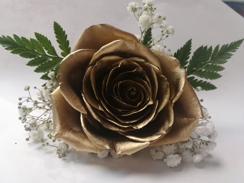 Golden Rose boutonniere and corsage - G & J Florist