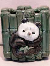 Load image into Gallery viewer, Ceramic panda & bamboo planter - G & J Florist