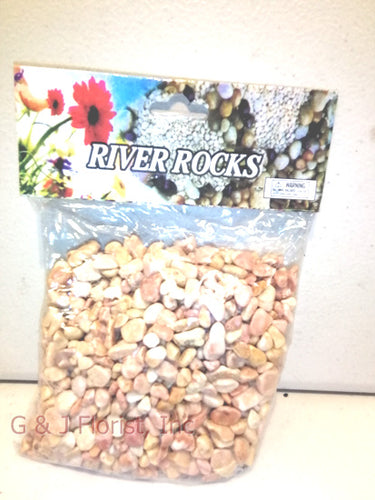 16 OZ Bag Yellow River Rocks - G & J Florist