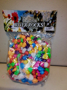 16 OZ  Bag MIX Color River Rocks - G & J Florist