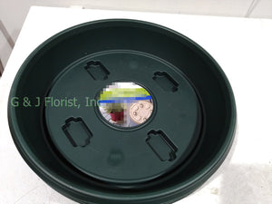 11.5 inch Plastic Planter Trolley with 4 wheels (color: Green, Gray, Terracotta) - G & J Florist