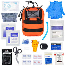 Load image into Gallery viewer, LINE2design Complete Survival Kit - EMS EMT Emergency Response Fully Stocked Tactical Molle Bag