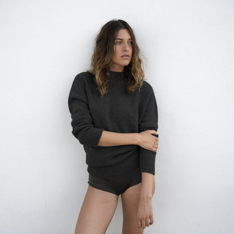 Sweater Black - Natura Cashmere
