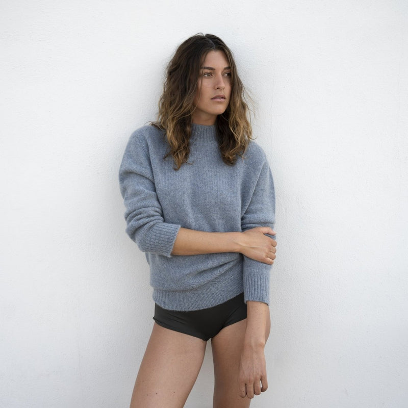 Sweater Ice Blue - Natura Cashmere