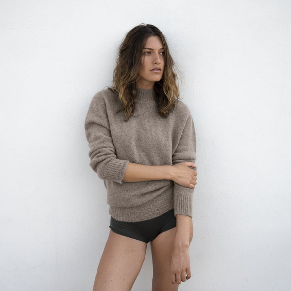 Sweater Taupe - Natura Cashmere