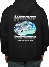 Load image into Gallery viewer, Wrecker Sport Fishing Hooded Sweat Shirt