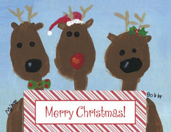 Merry Christmas Reindeer Card - RD-3318