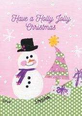 Holly Jolly Snowman Card - SM-3318
