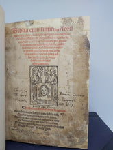 Load image into Gallery viewer, Biblia cum summarioru[m] apparatu pleno quadrupliciq[ue] repertorio insignita..., 1514