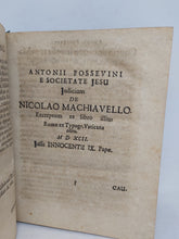 Load image into Gallery viewer, Nicolo Machiavelli: Princeps cum animadversionibus politicis Hermanni Conringii, 1686