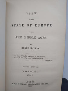 View of the State of Europe During the Middle Ages, 1841