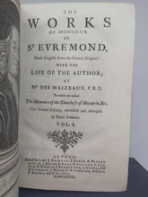Load image into Gallery viewer, The Works of Monsieur de St. Evremond, 1728