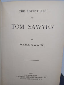 The Adventures of Tom Sawyer, 1892