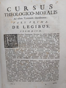 Cursus Theologico-Moralis, Tomus Prior and Tomus Posterior, 1737