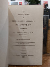 Load image into Gallery viewer, The Principals of Moral and Political Philosophy, 1809, Re-purposed as a book safe