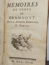 Load image into Gallery viewer, Memoires du Comte de grammont, 1749. Ownership of Jacques-Laure Le Tonnelier, bailiff of Breteuil