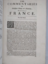 Load image into Gallery viewer, The Commentaries of Messire Blaize de Montluc, 1674