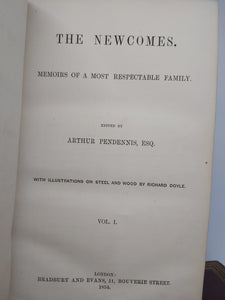 The Newcomes, by William Makepeace Thackeray, 1854-55. First Edition