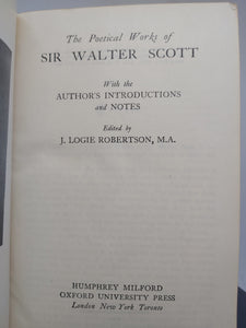 The Poetical Works of Sir Walter Scott, 1940
