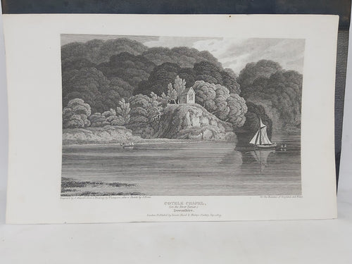 Cotele Chapel, on the River Tamar, Devonshire, 1809. Small Print