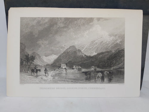 Thirlmere bridge, looking North, Cumberland, 1839. Small Print