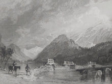 Load image into Gallery viewer, Thirlmere bridge, looking North, Cumberland, 1839. Small Print