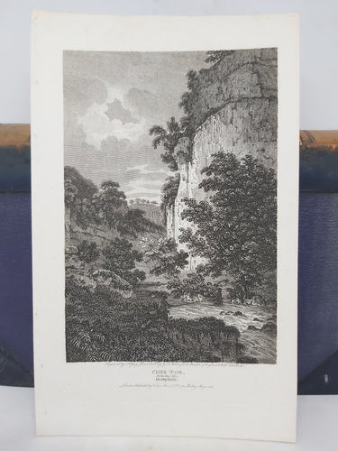 Chee Tor. on the River Wye: Derbyshire, 1806. Small Print