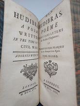 Load image into Gallery viewer, Hudibras, A Poem Written in the Time of the Civil Wars, 1757. 1st French and Dual Language Edition