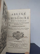 Load image into Gallery viewer, Abrege de L'Histoire Universelle, 1731. Tomes 1-2