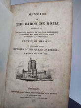 Load image into Gallery viewer, Memoirs of the Baron de Kolli, 1823. First Edition