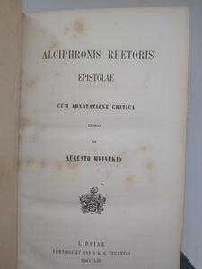 Alciphronis Rhetoris Epistolae