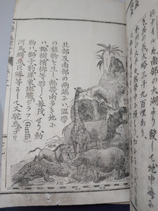 An Illustrated Japanese Woodblock Print Book on World History and Geography, 1888