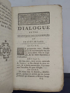 Dialogue Entre Un Eveque Et Un Cure, 1775