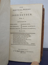 Load image into Gallery viewer, The Poetical Works of John Dryden, in Three Volumes. With the Life of the Author, 1778