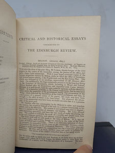 Lord Macaulay's Essays and Lays of Ancient Rome, 1890