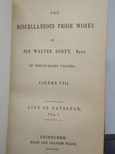 The Miscellaneous Prose Works of Sir Walter Scott, Life of Napoleon, 1854